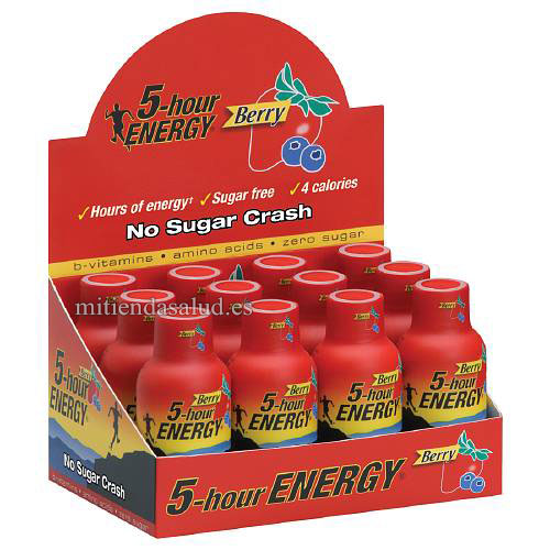 5 hour energy (5 horas energia - bebeida energizante) pack 12 Berry