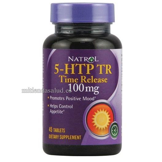 5-HTP TR Time Release 100 mg Natrol 45 capsulas