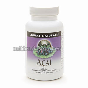 Acai Extracto de Bayas de Acai 500 mg Source Naturals 120 capsulas