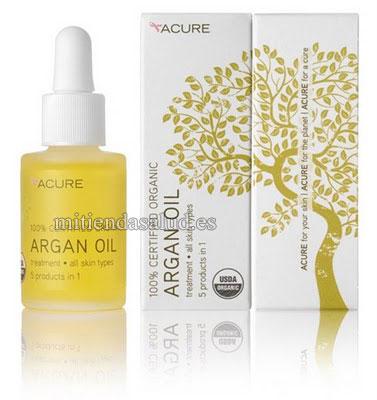 Aceite de Argan Acure Organics  certificado 100% Organico