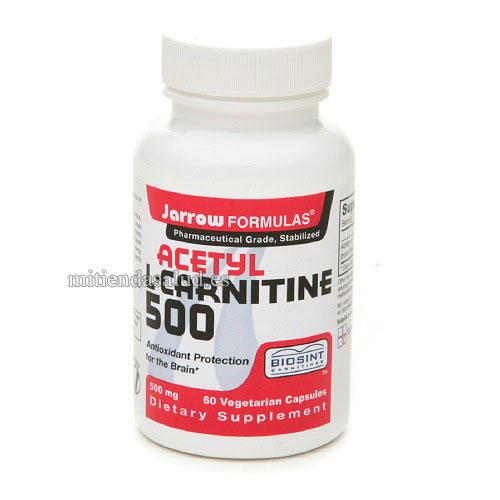 Acetil L-Carnitina 500 Jarrow Formulas 60 capsulas