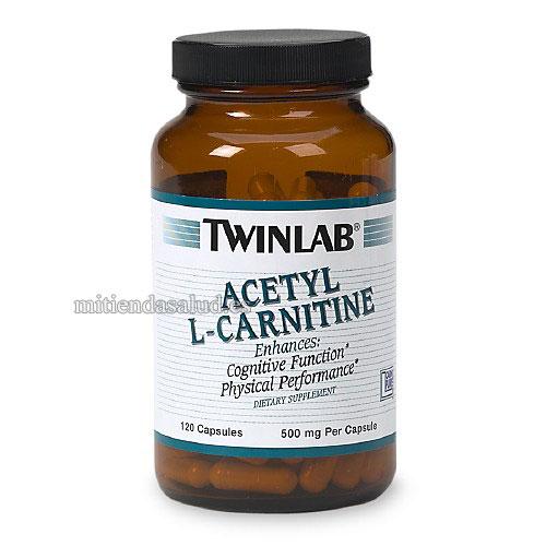 Acetil L-Carnitina 500 mgTwinlab 120 capsulas