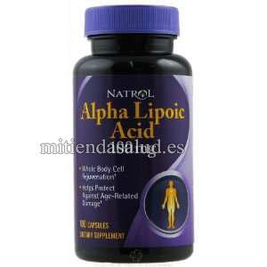 Acido Alfa Lipoico 100 mg Natrol 100 capsulas