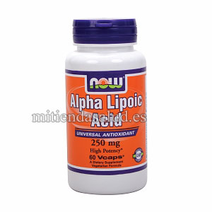 Acido Alfa Lipoico Now Foods 250 mg 120 capsulas