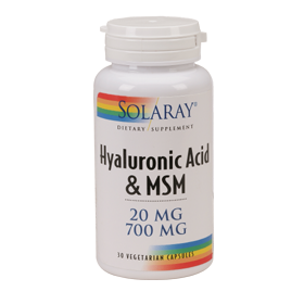 Acido hialuronico Solaray para la rodilla Plus MSM 30 capsulas
