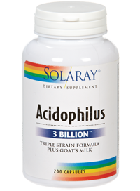Acidophilus Formula Triple Tension Plus Leche de cabra Solaray 200 capsulas