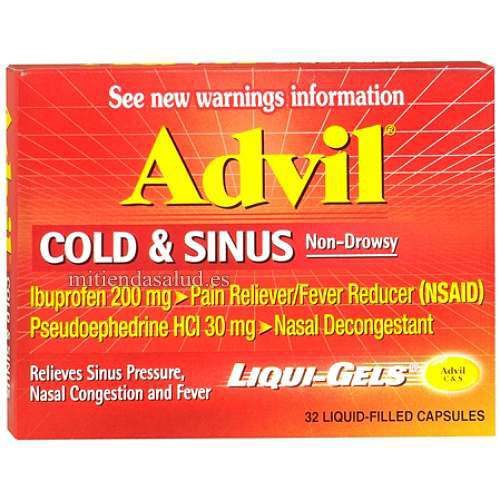 Advil Cold & Sinus (resfriado y gripe) 32 capsulas