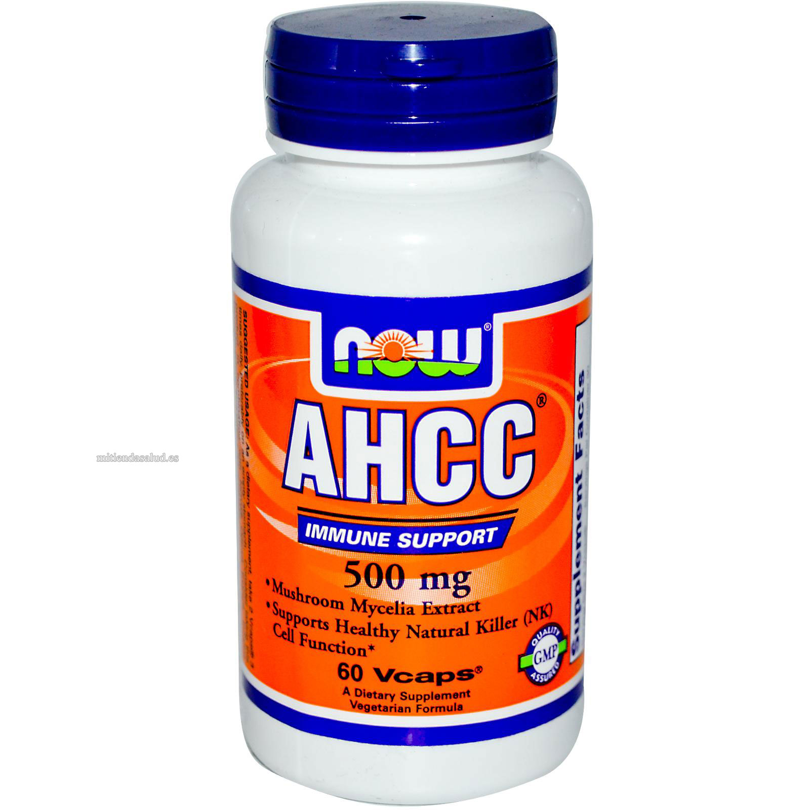 AHCC 500 mg NOW Foods 60 capsulas