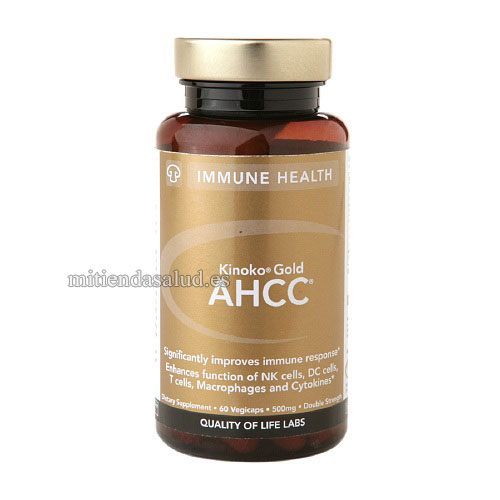 AHCC Kinoko Gold 500 mg Quality Of Life Labs 60 capsulas