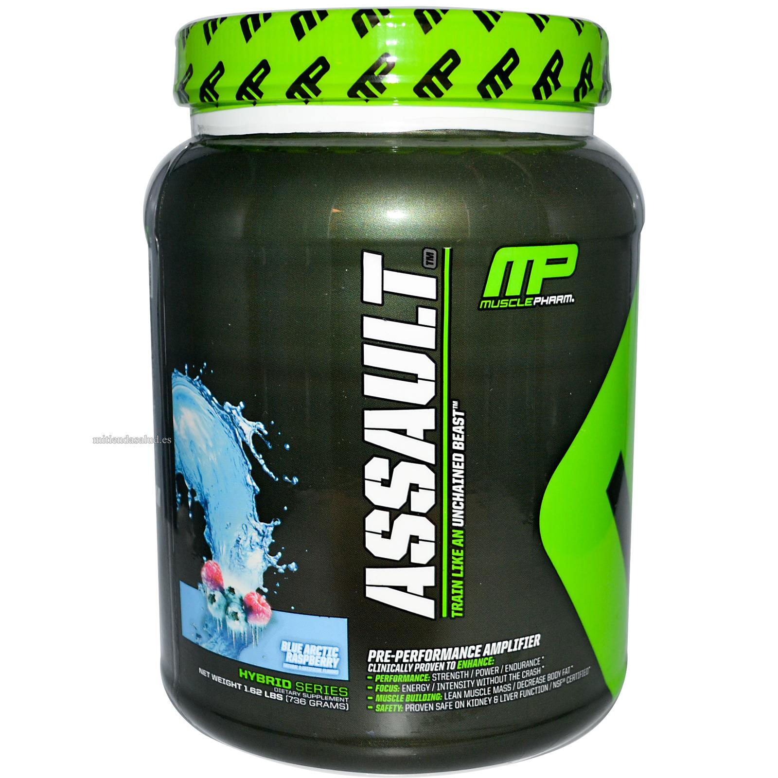 Assault Muscle Pharm Blue Arctic Raspberry 1.62 lb - Pre entreno