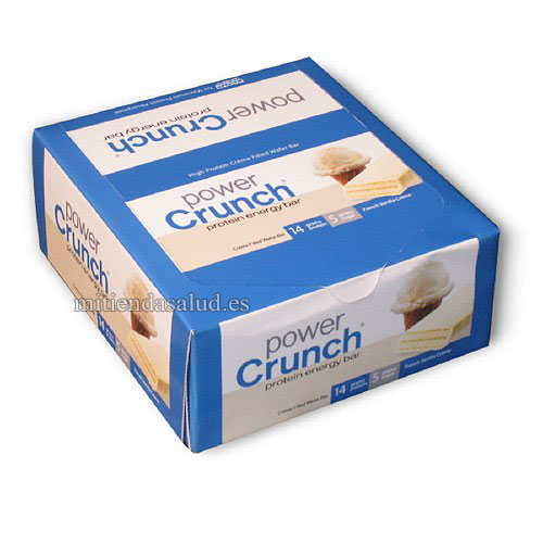 Barra de proteina Energia Power Crunch French Vanilla Creme 12 barras