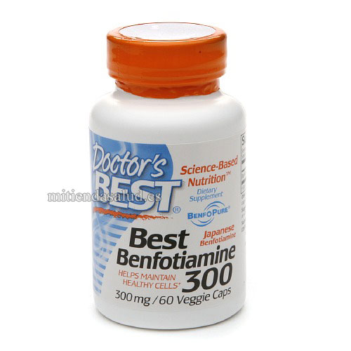 Best Benfotiamina 300 mg Doctor's Best 60 capsulas