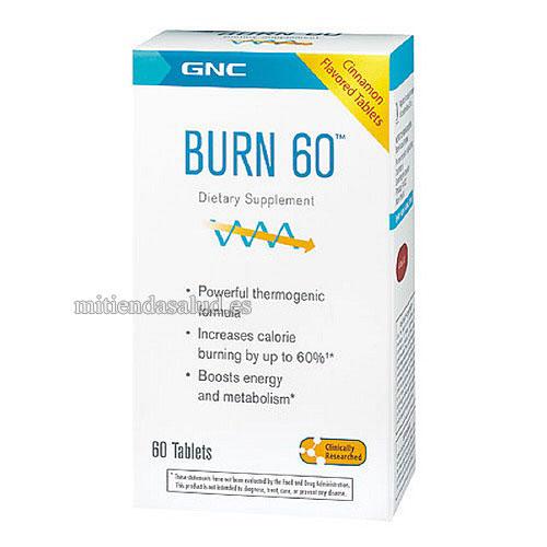 Burn 60 GNC Total Lean 60 capsulas