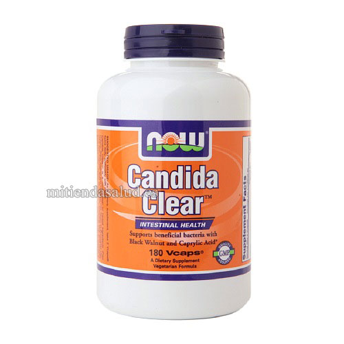 Candida Clear - Salud Intestinal Now Foods 180 capsulas