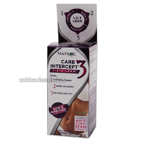Carb Intercept 3 Natrol 60 Capsulas