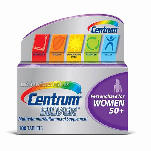 Centrum Silver Mujeres 50+ Multivitaminico 100 capsulas