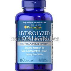 Colageno Hidrolizado 1000 mg Puritans Pride 180 capsulas