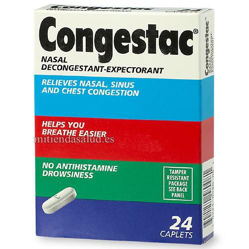 Congestac Descongestionante nasal -Expectorante 24 capsulas