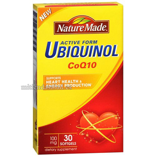 Ubiquinol CoQ10 Nature Made 100 mg 30 capsulas