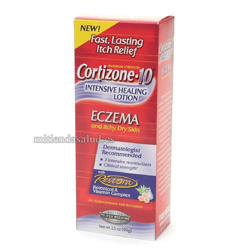 Cortizone 10 Intensive Healing Lotion para Eczema picazon y para piel seca 3.5 oz