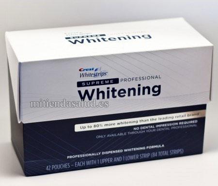 Crest Whitestrips Supreme 84 tiras