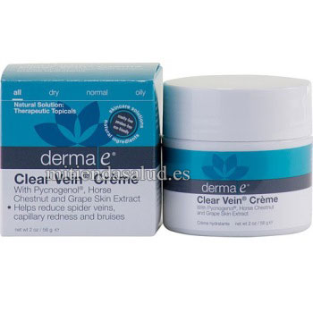 Clear Vein cream Derma E crema para las varices 2 oz