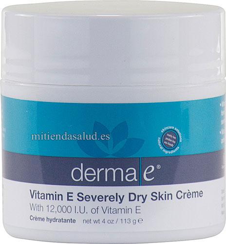 Vitamina E Crema Derma E con 12000 IU de vitamina E - 4 oz
