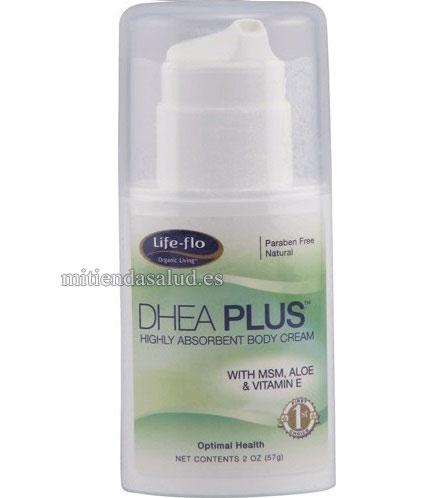 DHEA Plus Crema para el cuerpo con MSM, Aloe y Vitamina E Life-Flo 2 oz