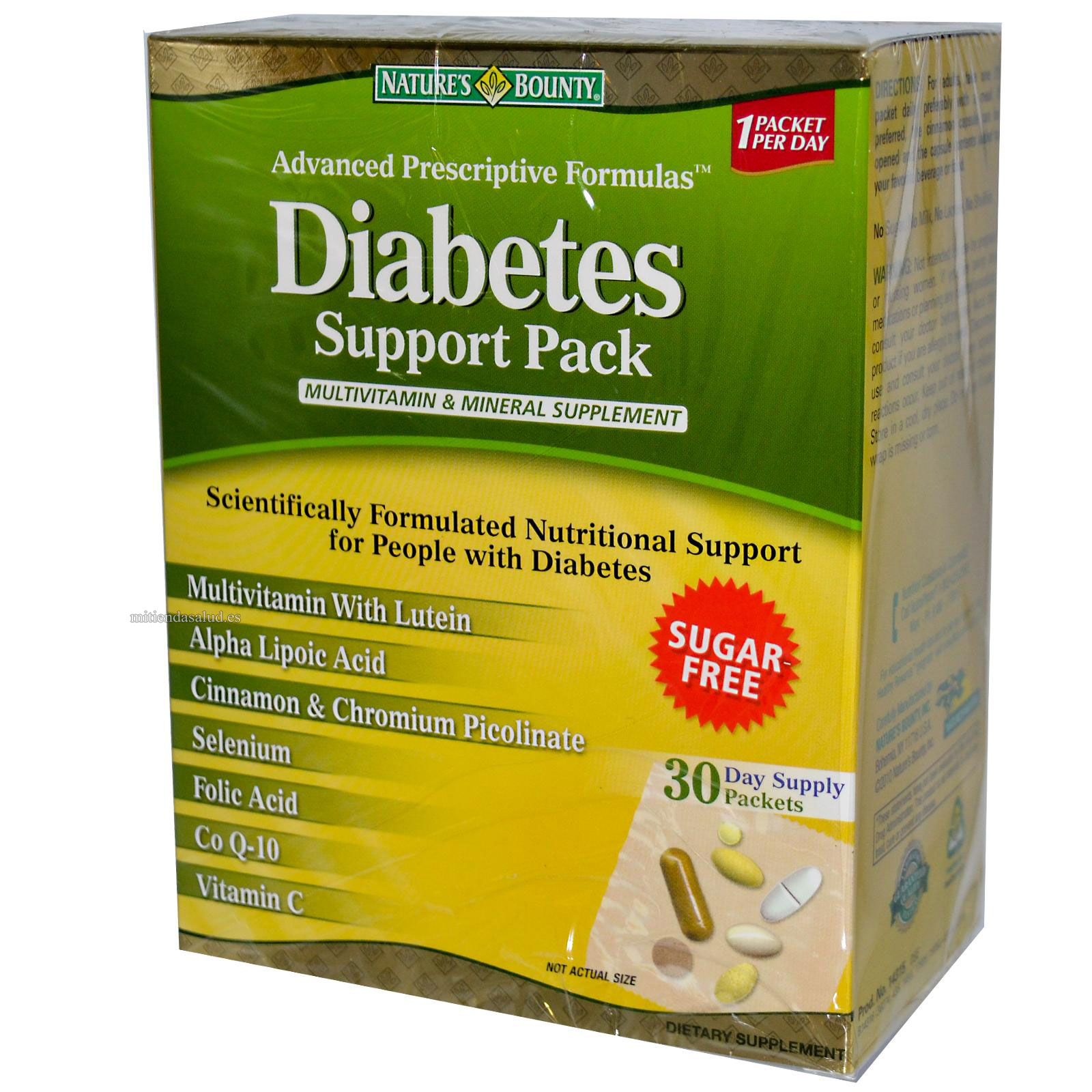 Diabetes Support Pack Nature's Bounty - para 30 dias
