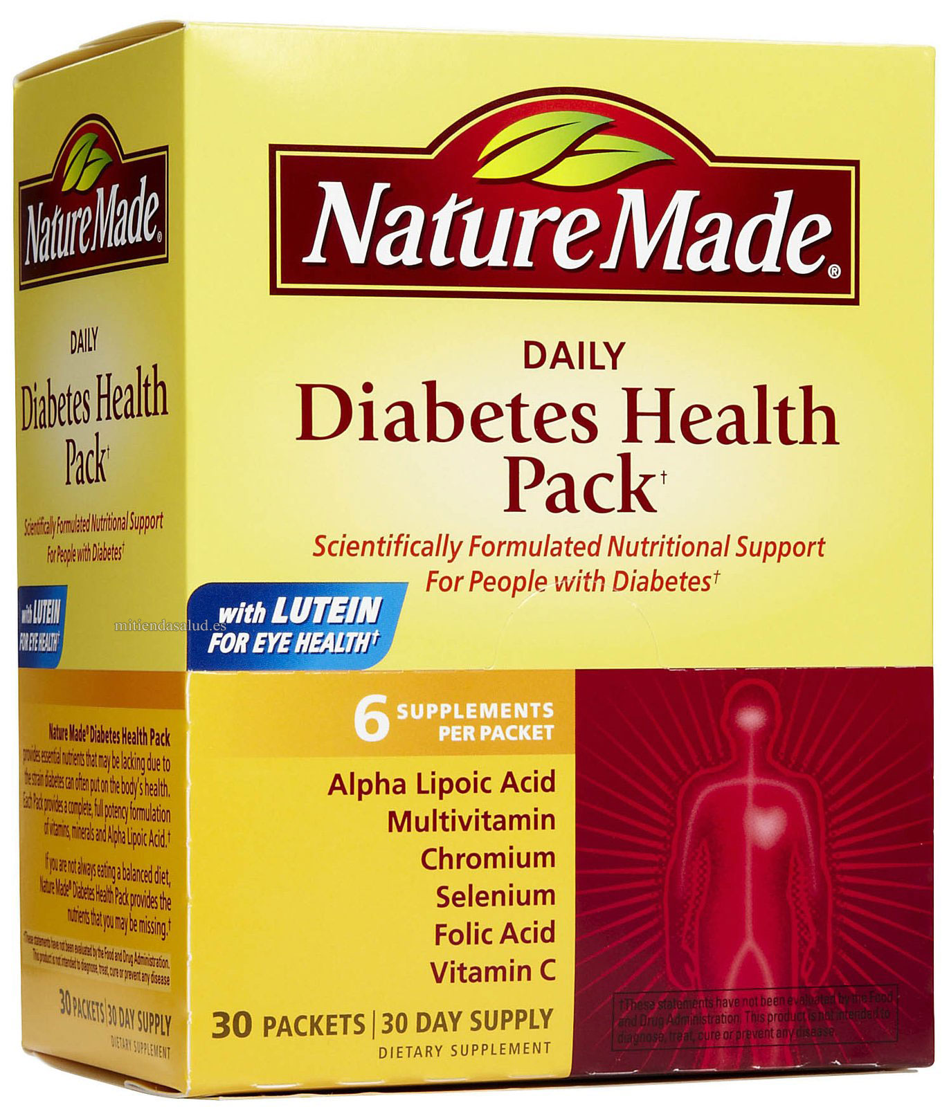 Daily Diabetes Health Pack (paquete para diabeticos) Nature Made 30 paquetes