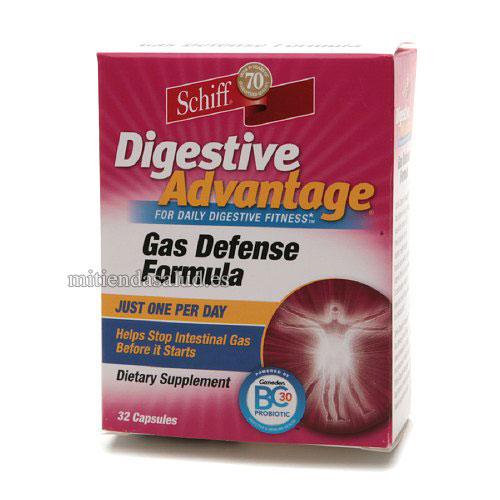 Formula de defensa para Gases Digestivos Schiff Digestive Advantage 32 capsulas