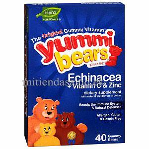 Echinacea con Vitamina C & ZincYummi Bears  40 gominolas
