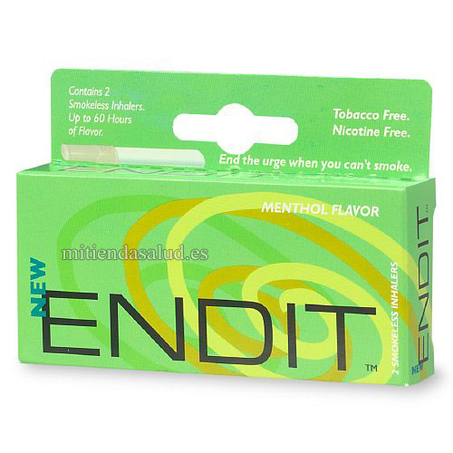 Endit Smokeless Inhalers (inhaladores sin humo) sabor a Menthol 2 inhaladores