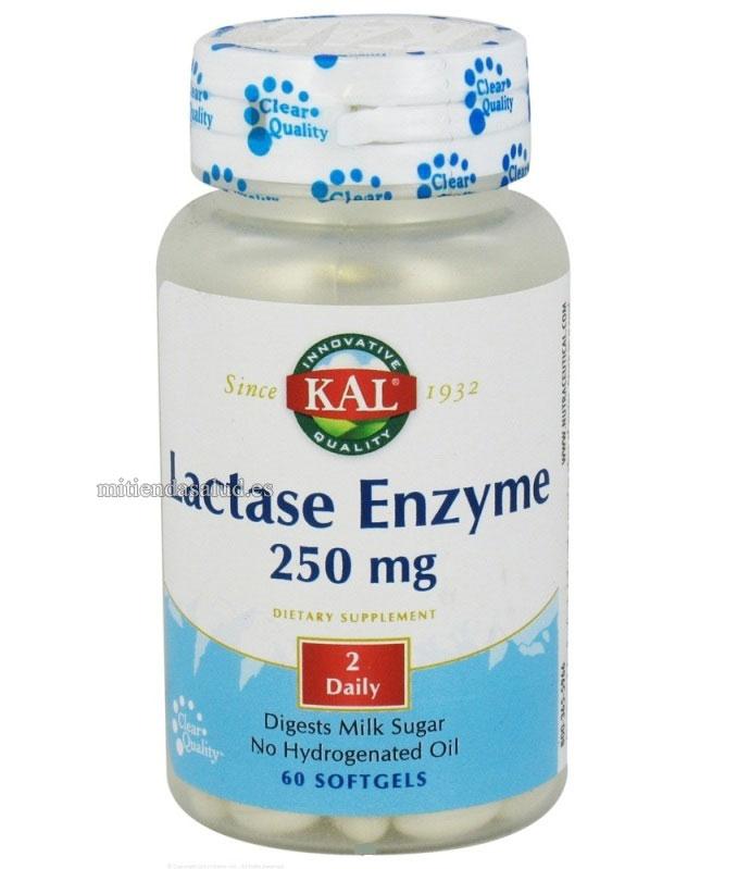 Enzima Lactasa 250 mg Kal 60 capsulas