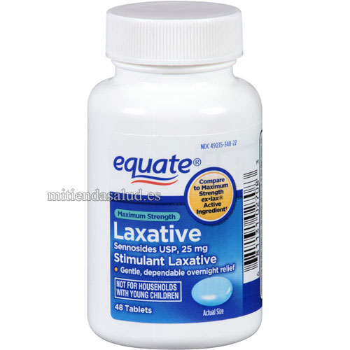 Equate Laxante pastillas Senosidos 25 mg 48 caps