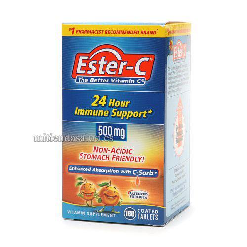 Ester C Vitamin C 500 mg 180 capsulas