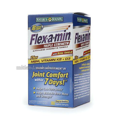 Flex-A-Min Triple Strength Formula con Glucosamina Condroitina 80 capsulas
