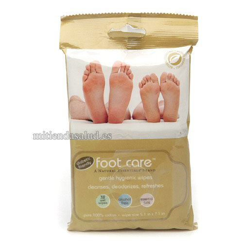 Foot Care (Toallitas para el Cuidado de Pies diabeticos) Natural Essentials 32 Toallitas