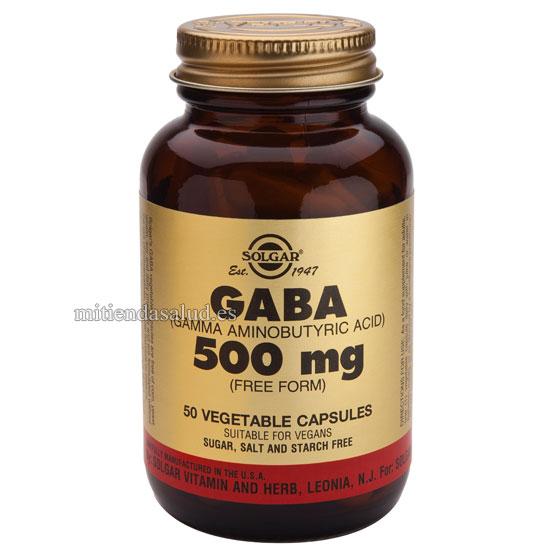 Gaba 500 mg Solgar 100 capsulas