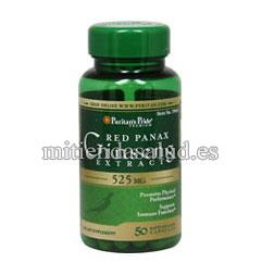 Extracto de Ginseng Rojo Panax 525 mg Puritan's Pride 50 capsulas