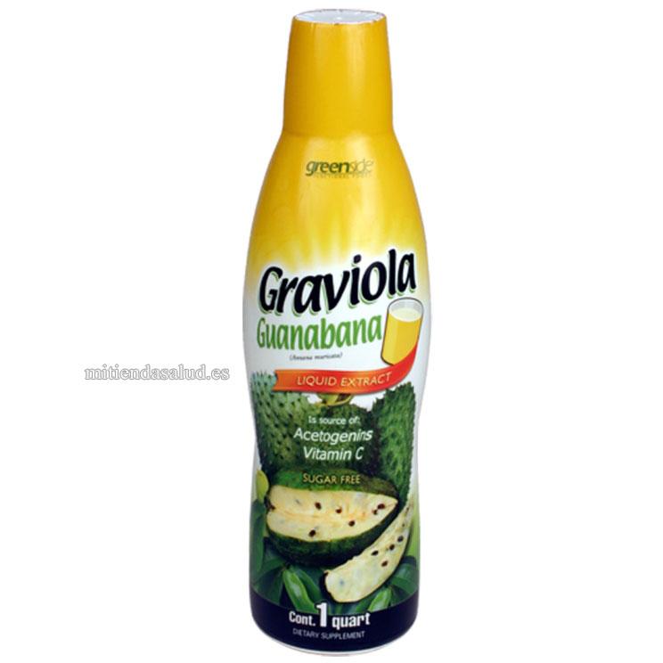 Extracto Graviola Liquida Greenside Functional Foods Guanabana 1 qt