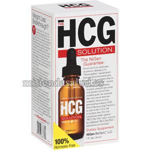 Solucion HCG sin hormonas NiGen BioTech 1 oz. (28ml) un dietetico en gotas.