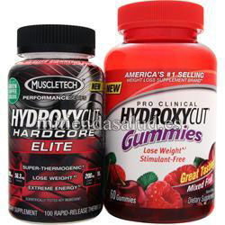 Hydroxycut Hardcore Elite + Gominolas Gratis Muscletech 160 capsulas