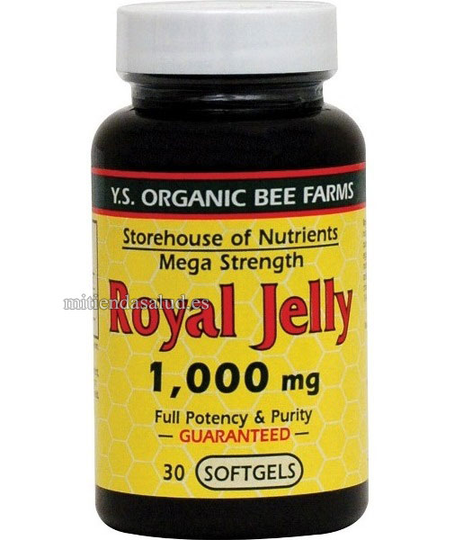 Jalea Real 1000 mg YS Eco Bee Farms 30 capsulas