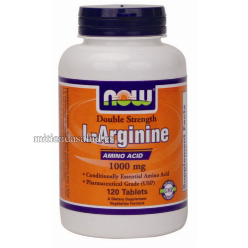 L-Arginine 1000 mg Now Foods 120 capsulas