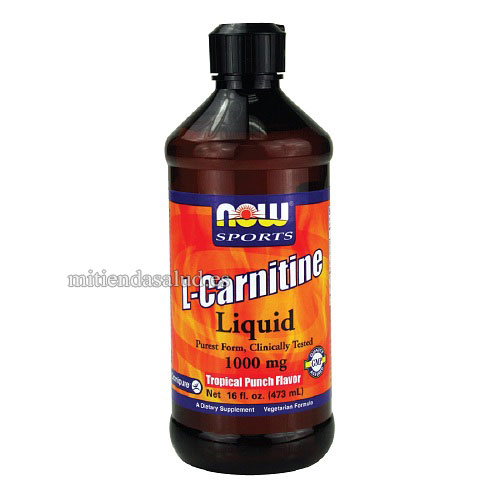 L-Carnitina Liquida NOW Sports 1000mg Tropical Punch