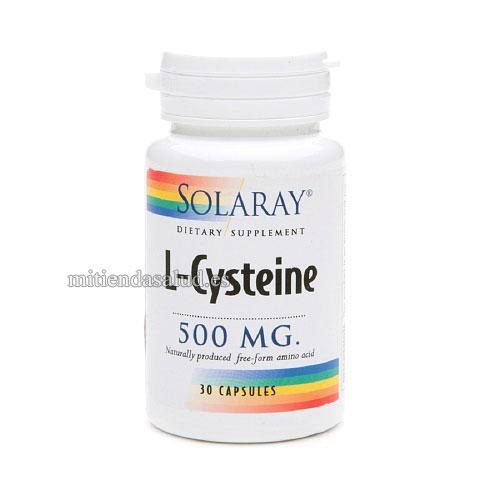 L-Cysteine 500mg Solaray 30 capsulas