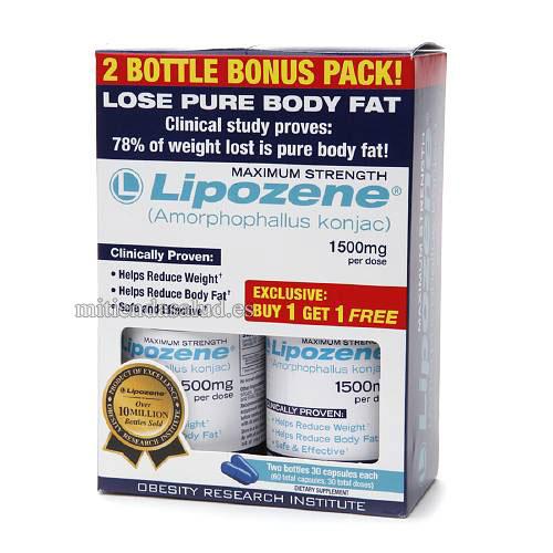 Lipozene para reducir la grasa corporal 60 capsulas