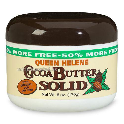 Manteca de cacao Cocoa Butter Solid Queen Helene 6 oz