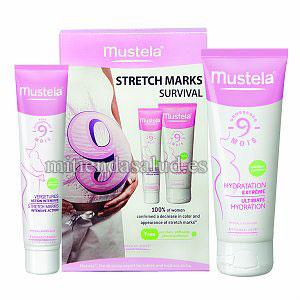 Mustela Stretch Marks Survival Programa para las fuertes marcas de estrias 1 set